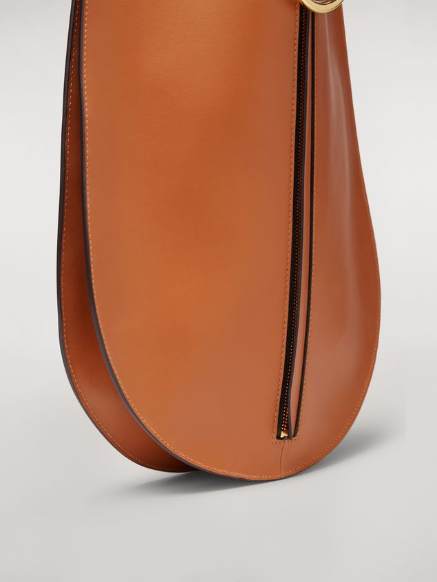 Marni EARRING calfskin bag rust Woman - 5