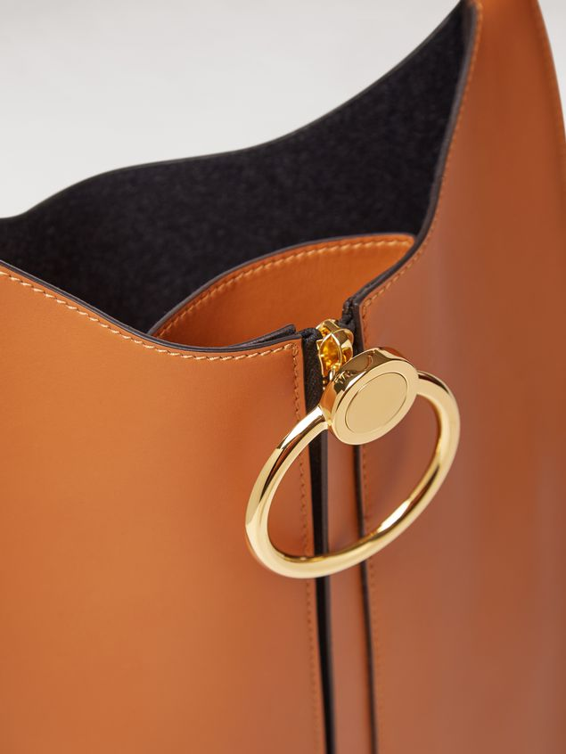 Marni EARRING calfskin bag rust Woman - 4
