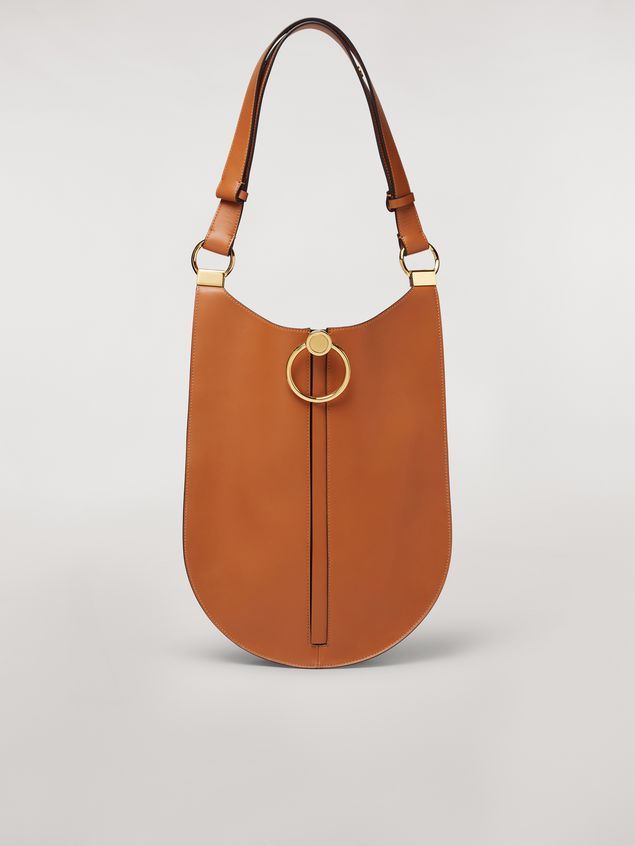 Marni EARRING calfskin bag rust Woman - 1