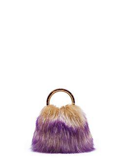 Marni PANNIER bag in colorful lamb hair Woman