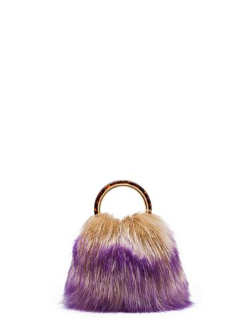 Marni PANNIER bag in colorful lamb hair Woman