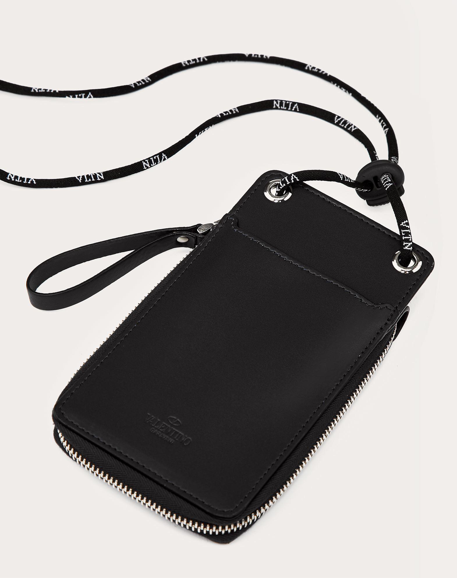 VALENTINO GARAVANI UOMO VLTN neck wallet  COIN PURSES & CARD CASES U d