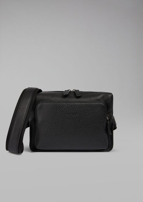 Grainy calfskin leather belt bag