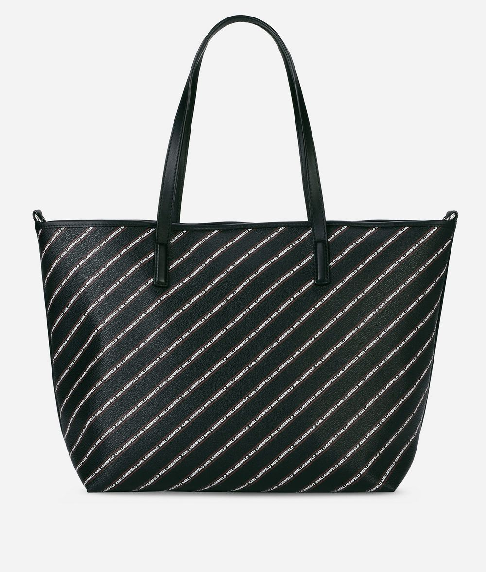 KARL LAGERFELD K/Stripe Logo Shopper Shopper Woman d