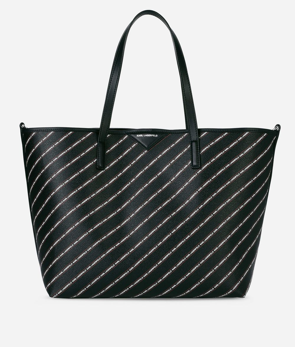 KARL LAGERFELD K/Stripe Logo Shopper Shopper Woman f