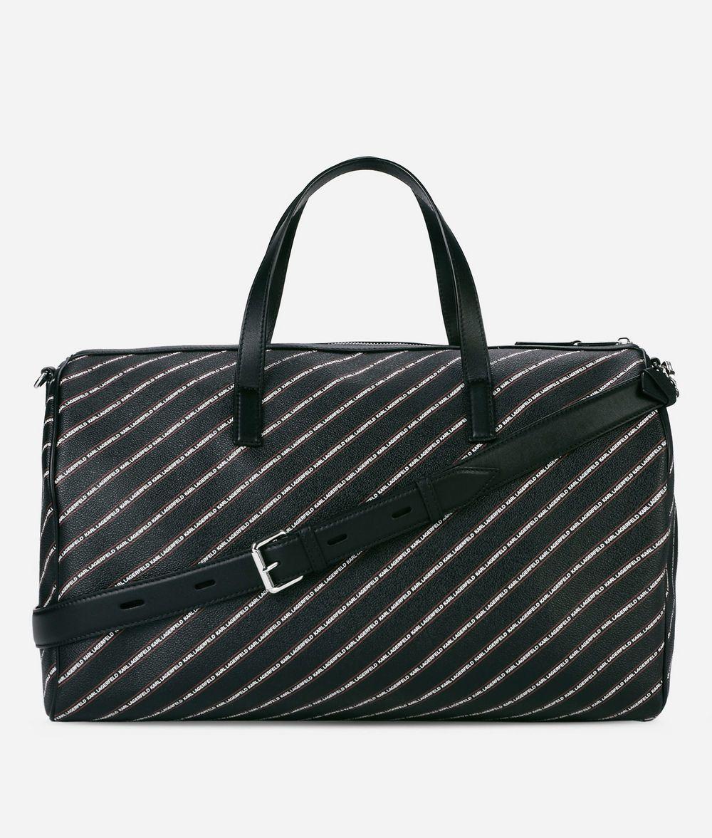 KARL LAGERFELD K/Stripe Logo Weekender Handbag Woman d