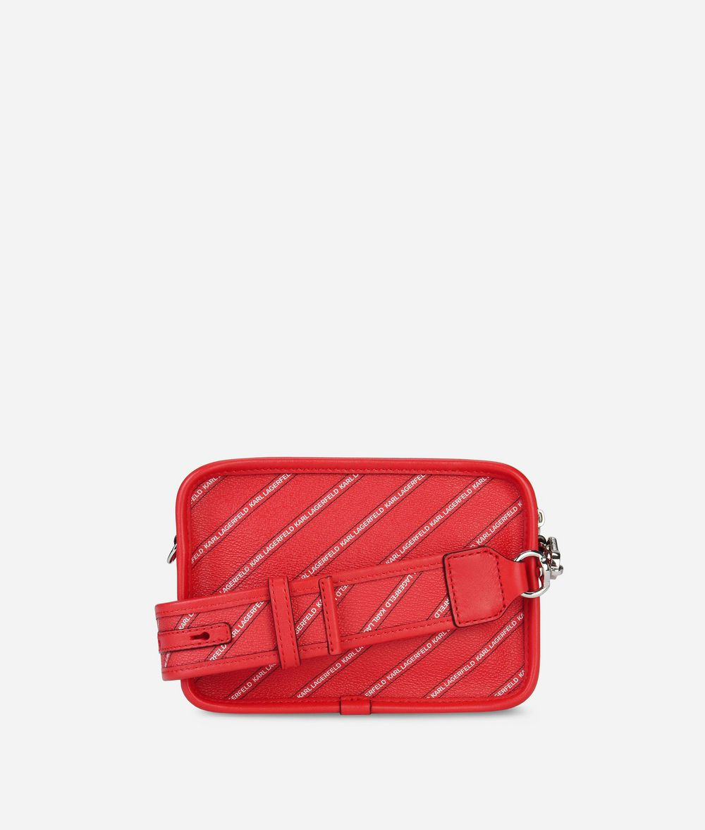 KARL LAGERFELD K/Stripe Logo Crossbody Bag Handbag Woman d
