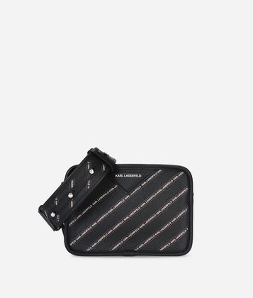 KARL LAGERFELD K/STRIPE LOGO CROSSBODY BAG