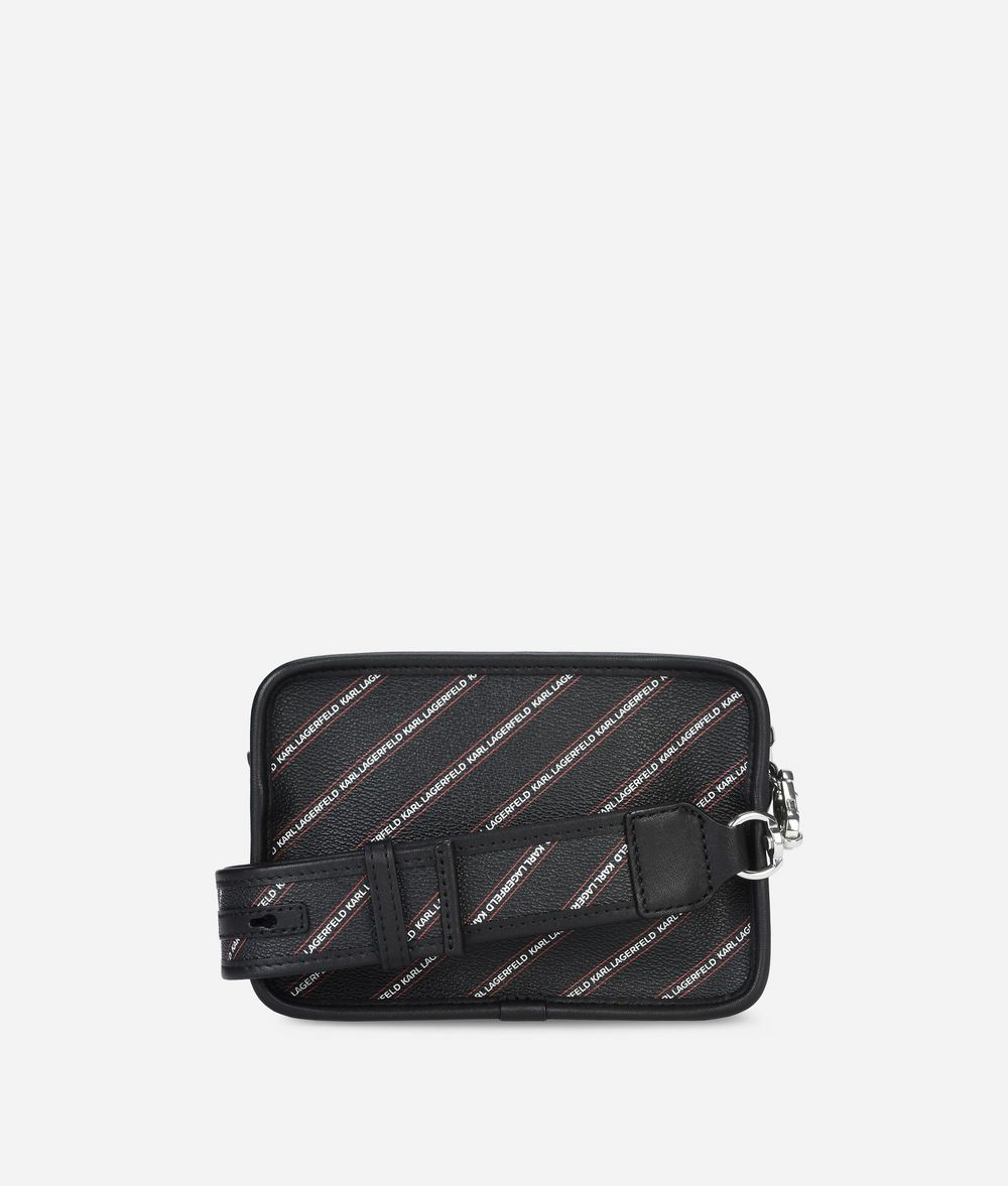 KARL LAGERFELD K/Stripe Logo Crossbody Bag Handbag Woman d