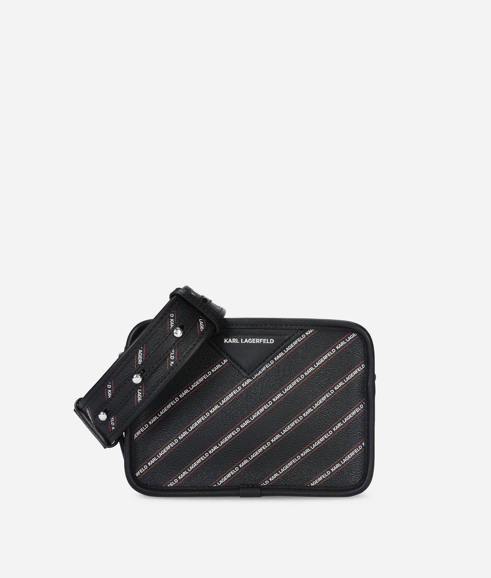 KARL LAGERFELD K/Stripe Logo Crossbody Bag Handbag Woman f