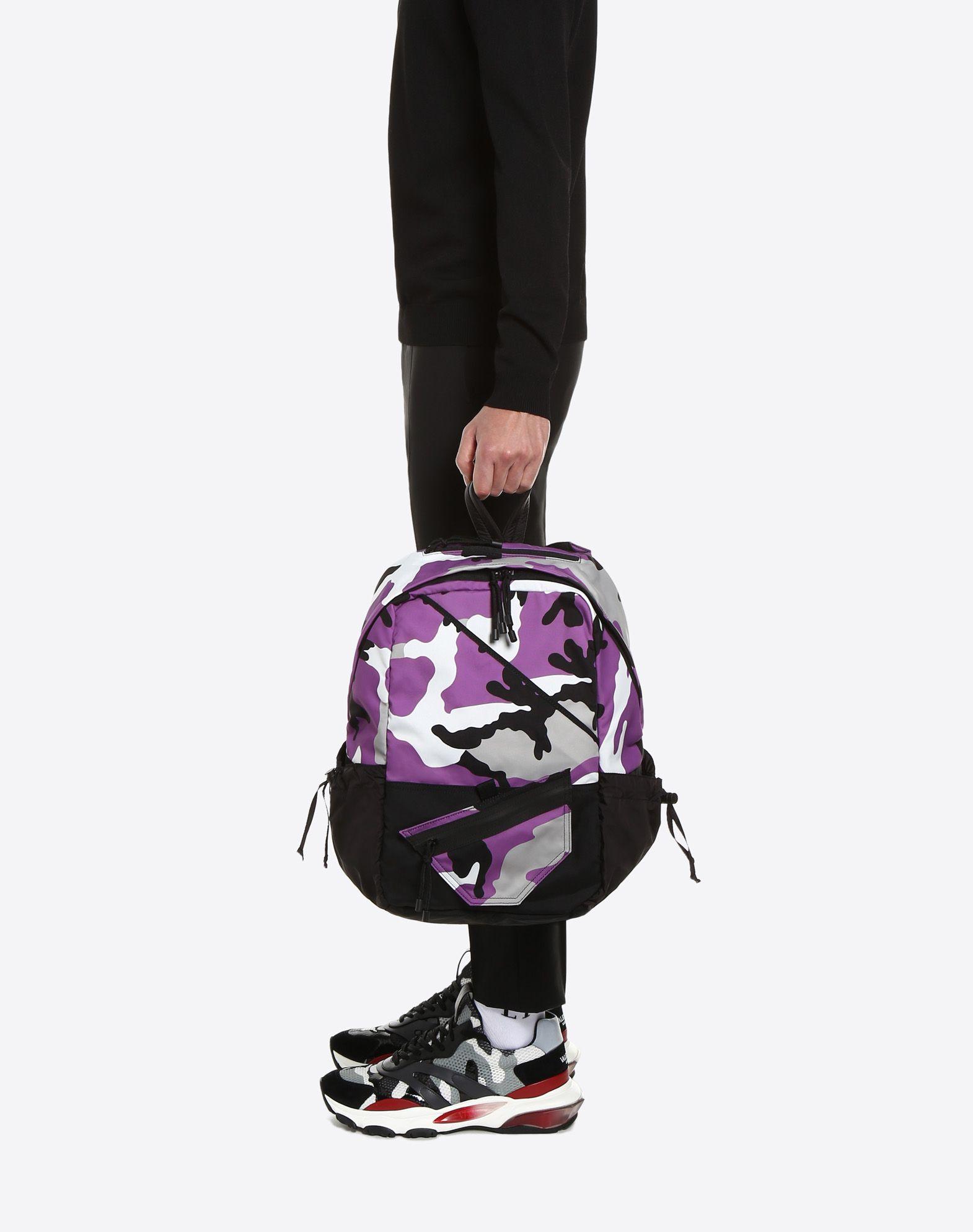 VALENTINO GARAVANI UOMO Camouflage rucksack Rucksack U a