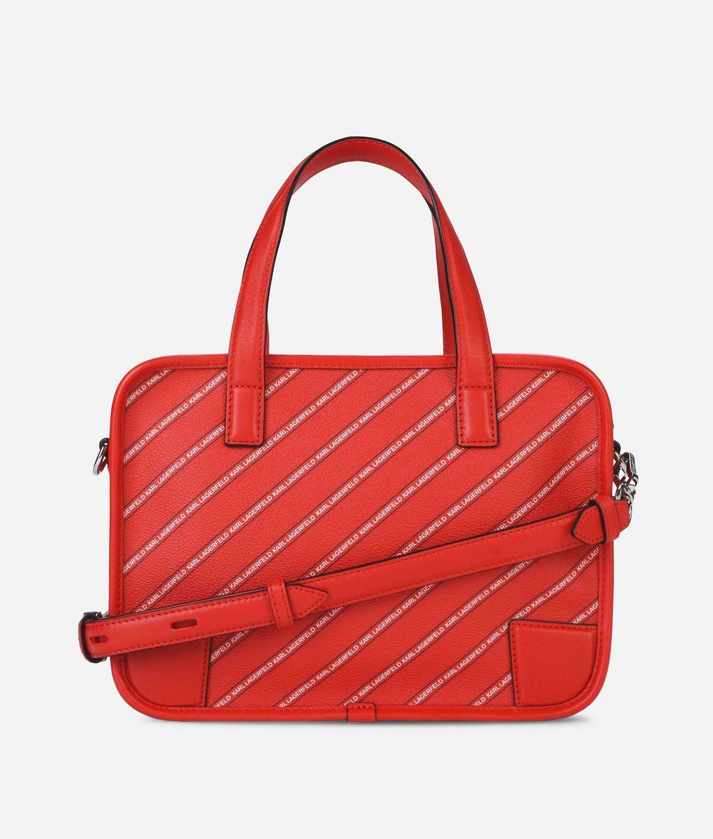 KARL LAGERFELD K/Stripe Logo Bowling Bag Bowling bag Woman d