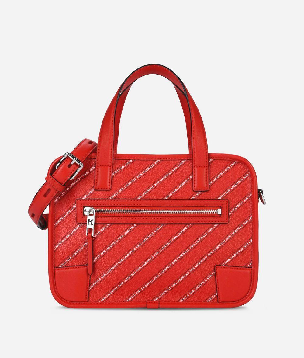 KARL LAGERFELD K/Stripe Logo Bowling Bag Bowling bag Woman f