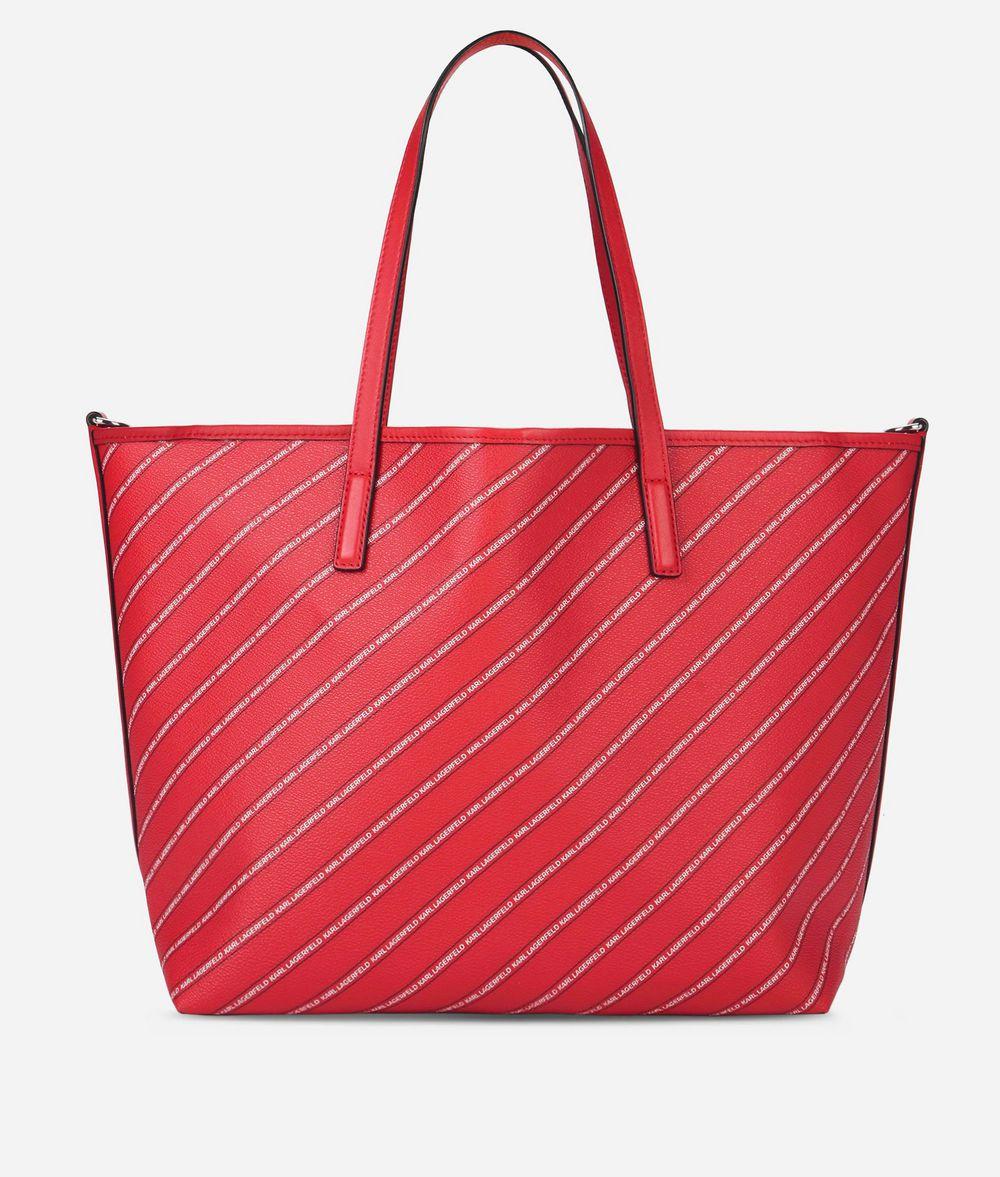 KARL LAGERFELD K/Stripe Shopper mit Logo Shopper Damen d