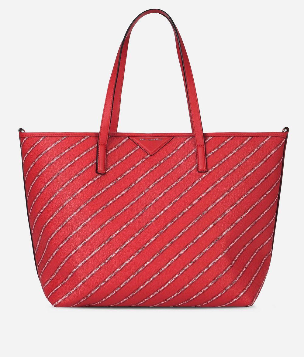 KARL LAGERFELD K/Stripe Shopper mit Logo Shopper Damen f