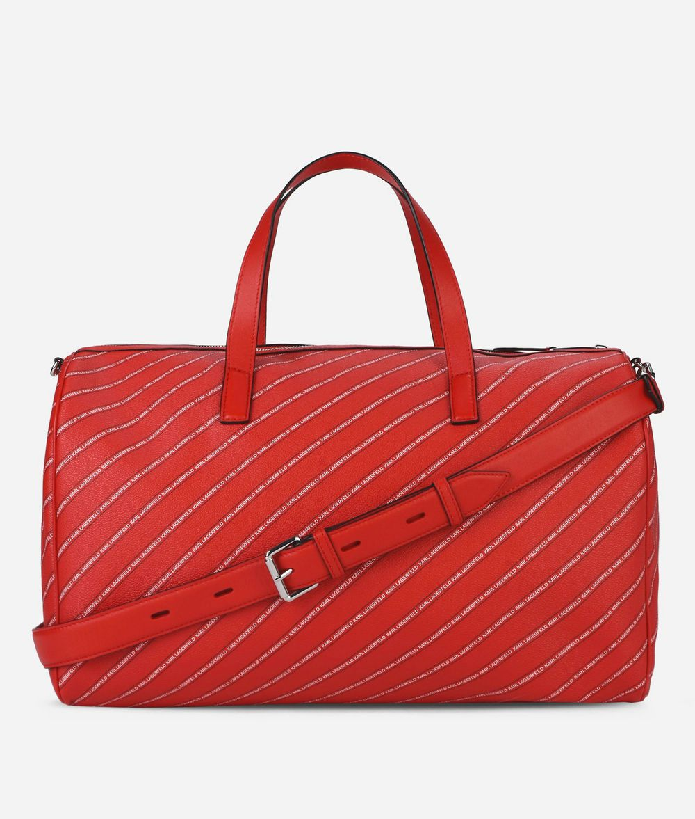 KARL LAGERFELD K/Stripe Weekender mit Logo Handtasche Damen d