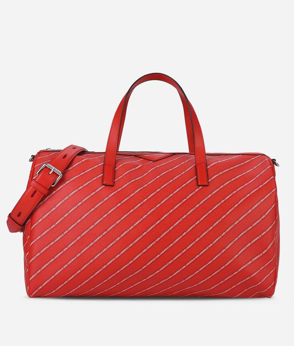 KARL LAGERFELD K/Stripe Weekender mit Logo Handtasche Damen f