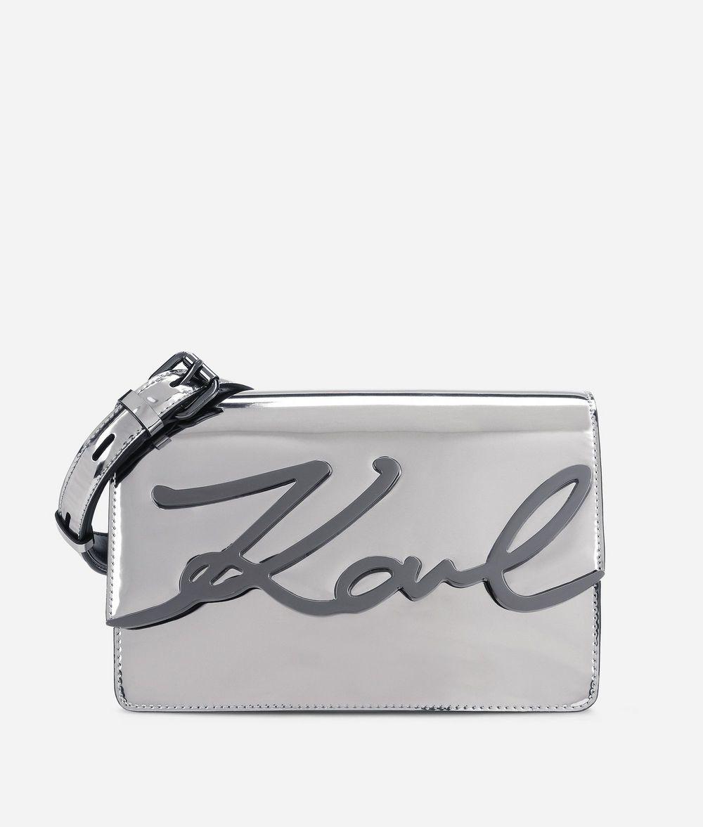 KARL LAGERFELD K/Signature Gloss Shoulder Bag Handbag Woman f