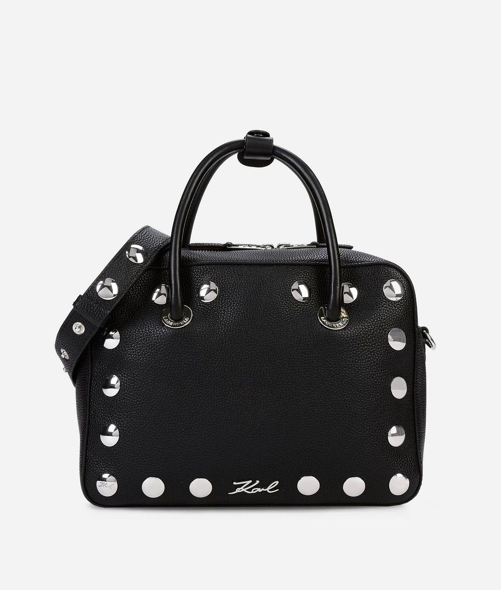 KARL LAGERFELD K/Snaps Leather Bowling Bag Bowling bag Woman f