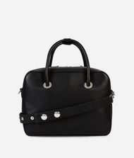 KARL LAGERFELD K/Snaps Leather Bowling Bag 9_f