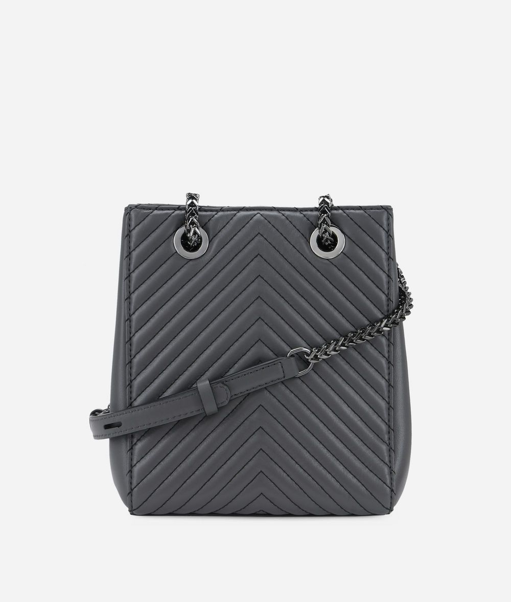 KARL LAGERFELD K/Klassik Bucket Bag aus Leder mit gesteppten Details Tasche mit Kordelzug Damen d
