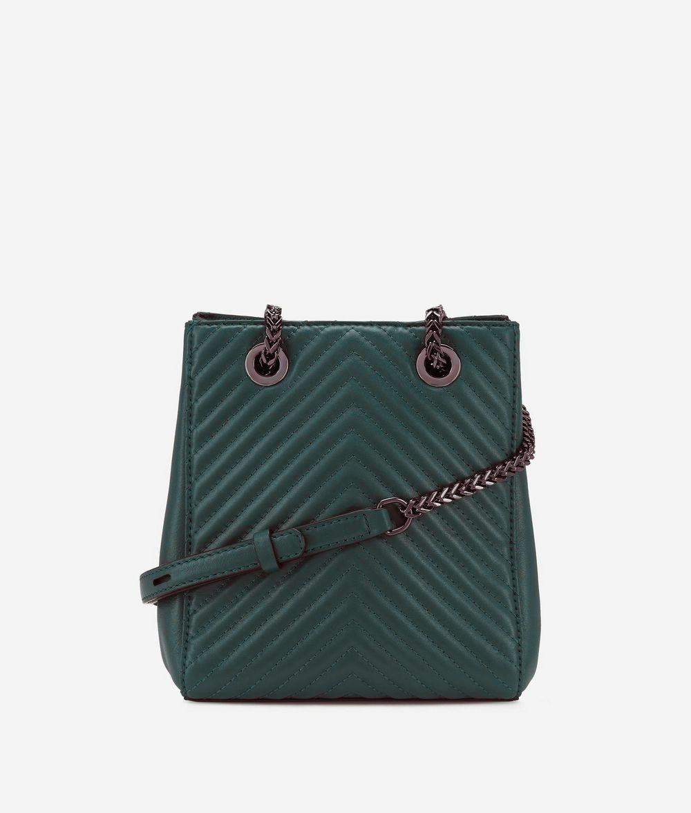 KARL LAGERFELD K/Klassik Quilted Leather Bucket Bag Drawstring bag Woman d
