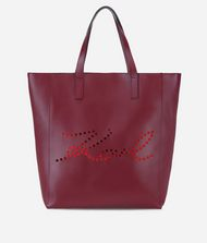 KARL LAGERFELD K/Signature Perforated Leather Shopper 9_f