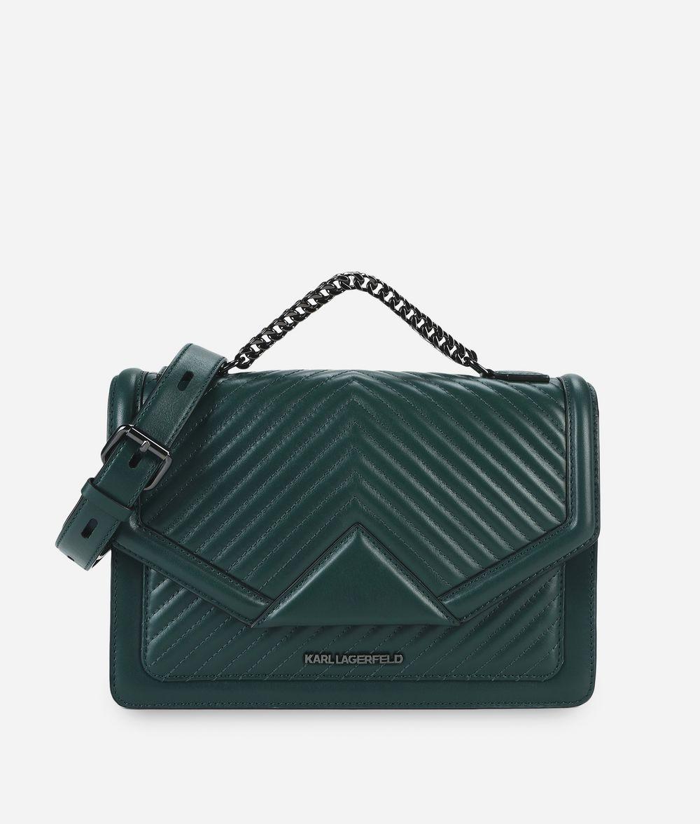 KARL LAGERFELD K/Klassik Schultertasche aus Leder mit gesteppten Details Handtasche Damen f