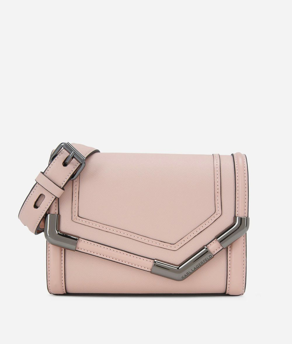 KARL LAGERFELD K/Rocky Small Leather Shoulder Bag Handbag Woman f