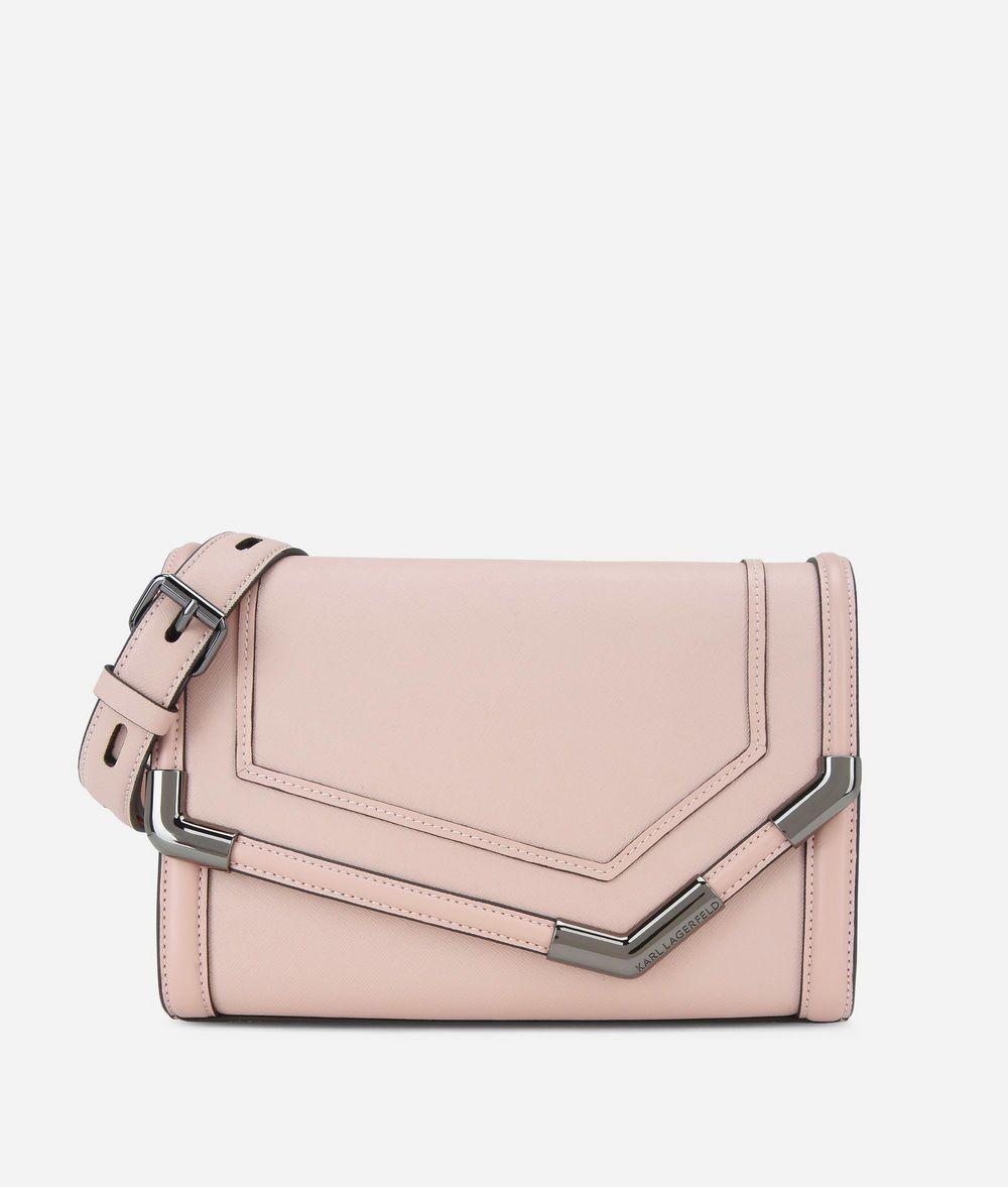 KARL LAGERFELD K/Rocky Leather Shoulder Bag Handbag Woman f