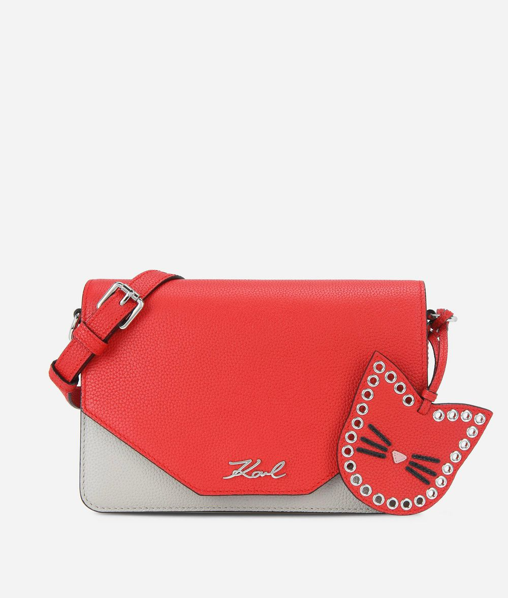 KARL LAGERFELD K/Karry All Leather Shoulder Bag Shoulder bag Woman f