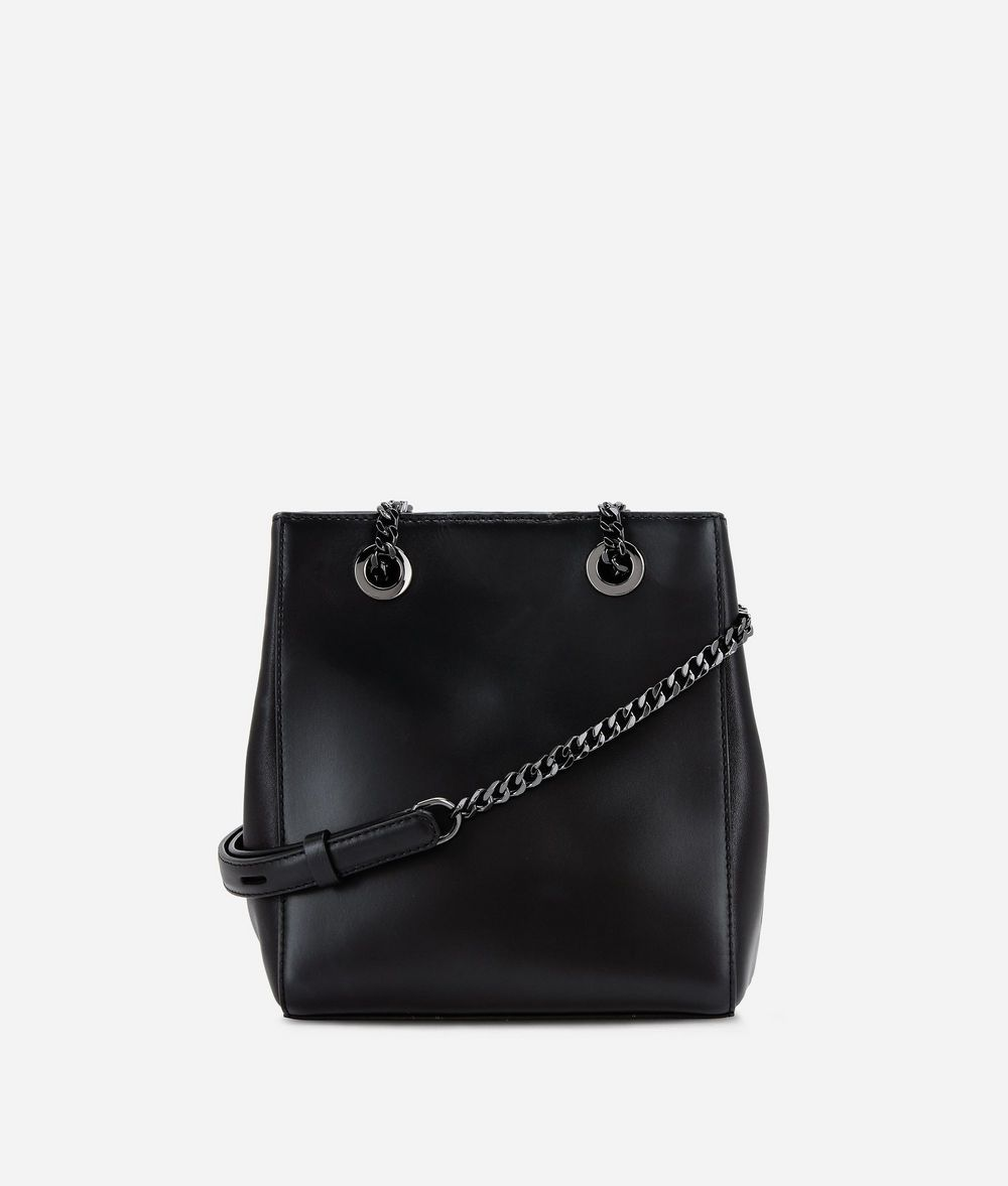KARL LAGERFELD K/Signature Leather Bucket Bag Drawstring bag Woman d