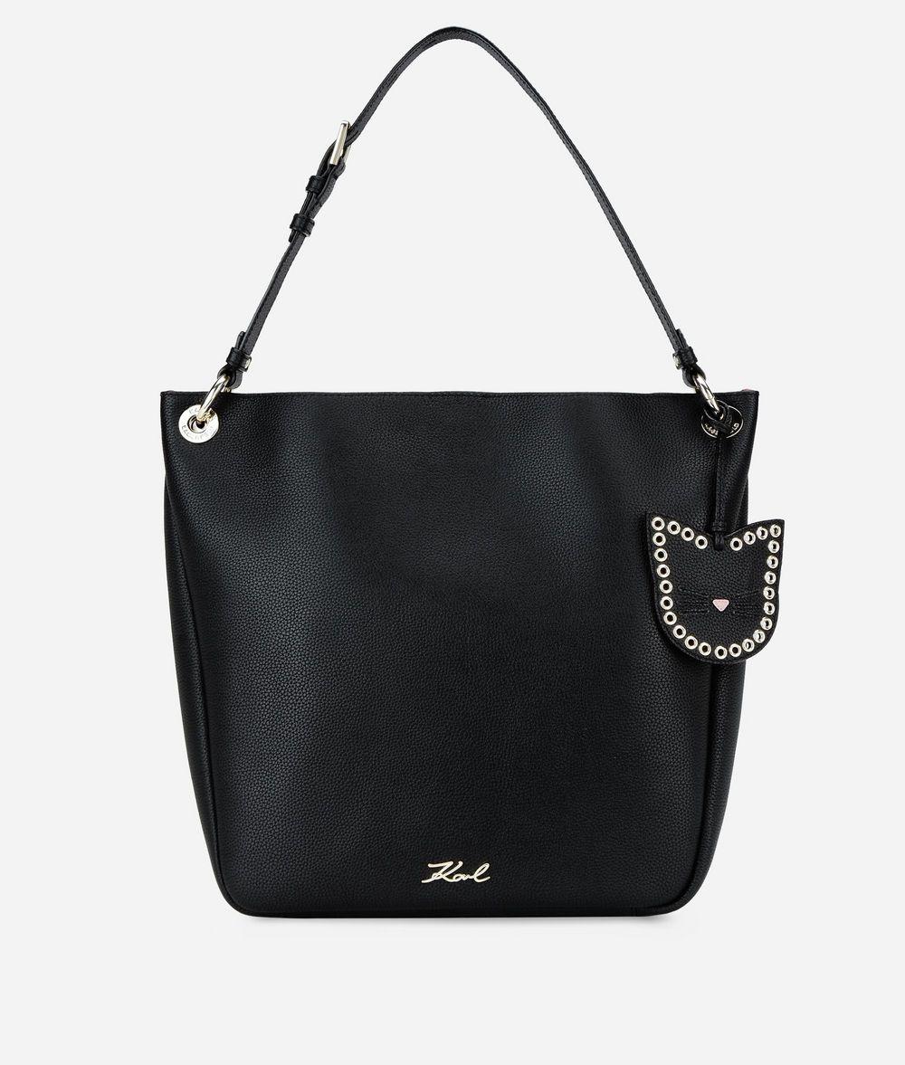 KARL LAGERFELD K/Karry All Leather Hobo Bag Hobo Bag Woman f