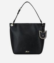 KARL LAGERFELD K/Karry All Leather Hobo Bag 9_f