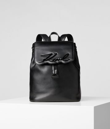 KARL LAGERFELD K/SIGNATURE LEATHER BACKPACK