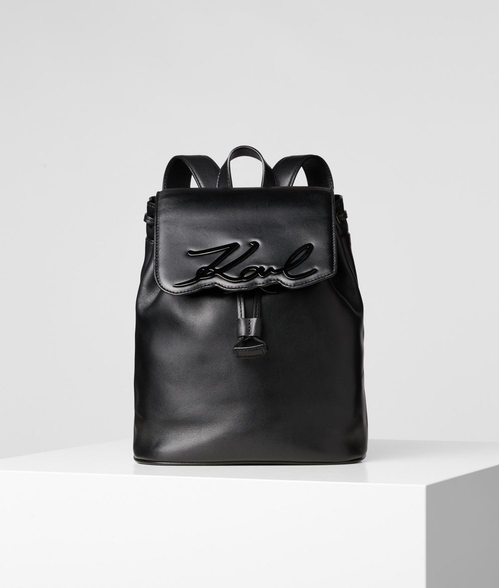 KARL LAGERFELD K/Signature Leather Backpack Backpack Woman f