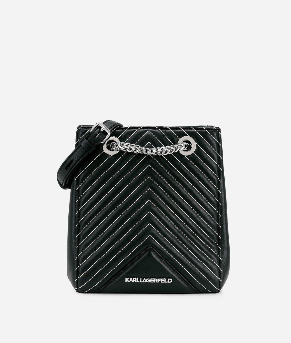 KARL LAGERFELD K/Klassik Quilted Leather Bucket Bag Drawstring bag Woman f