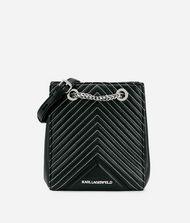 KARL LAGERFELD K/Klassik Quilted Leather Bucket Bag 9_f