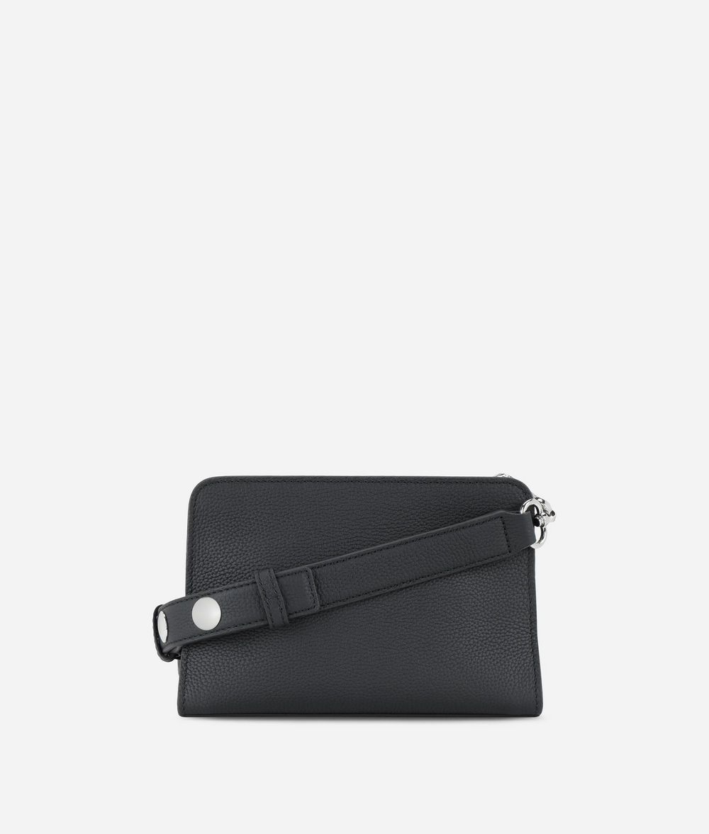 KARL LAGERFELD K/Snaps Small Leather Shoulder Bag Handbag Woman d
