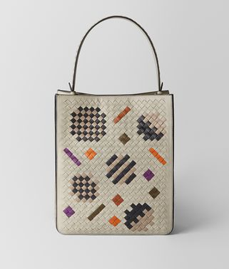 FAÇADE TOTE BAG AUS INTRECCIATO ABSTRACT IN CEMENT