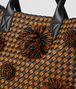 orange/nero intrecciato checker cabat Back Detail Portrait