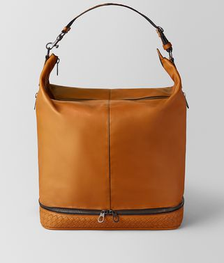 BORSA MI-NY IN VITELLO BUTTER ORANGE/NERO