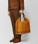 BOTTEGA VENETA ORANGE/NERO BUTTER CALF MI-NY BAG Tote Bag Man ap