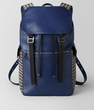 ATLANTIC CALF INTRECCIATO CHECKER BACKPACK