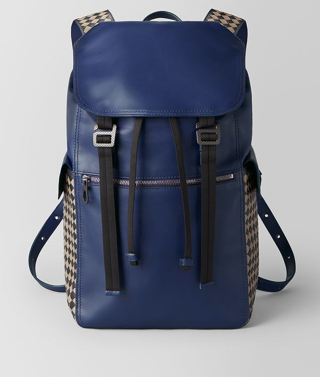 BOTTEGA VENETA ATLANTIC CALF INTRECCIATO CHECKER BACKPACK Backpack [*** pickupInStoreShippingNotGuaranteed_info ***] fp