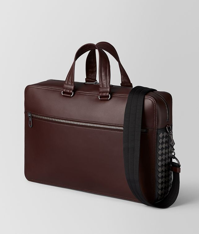BOTTEGA VENETA DARK BAROLO INTRECCIATO CHECKER BRIEFCASE Business bag [*** pickupInStoreShippingNotGuaranteed_info ***] fp