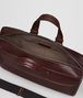 dark barolo intrecciato checker briefcase Back Portrait