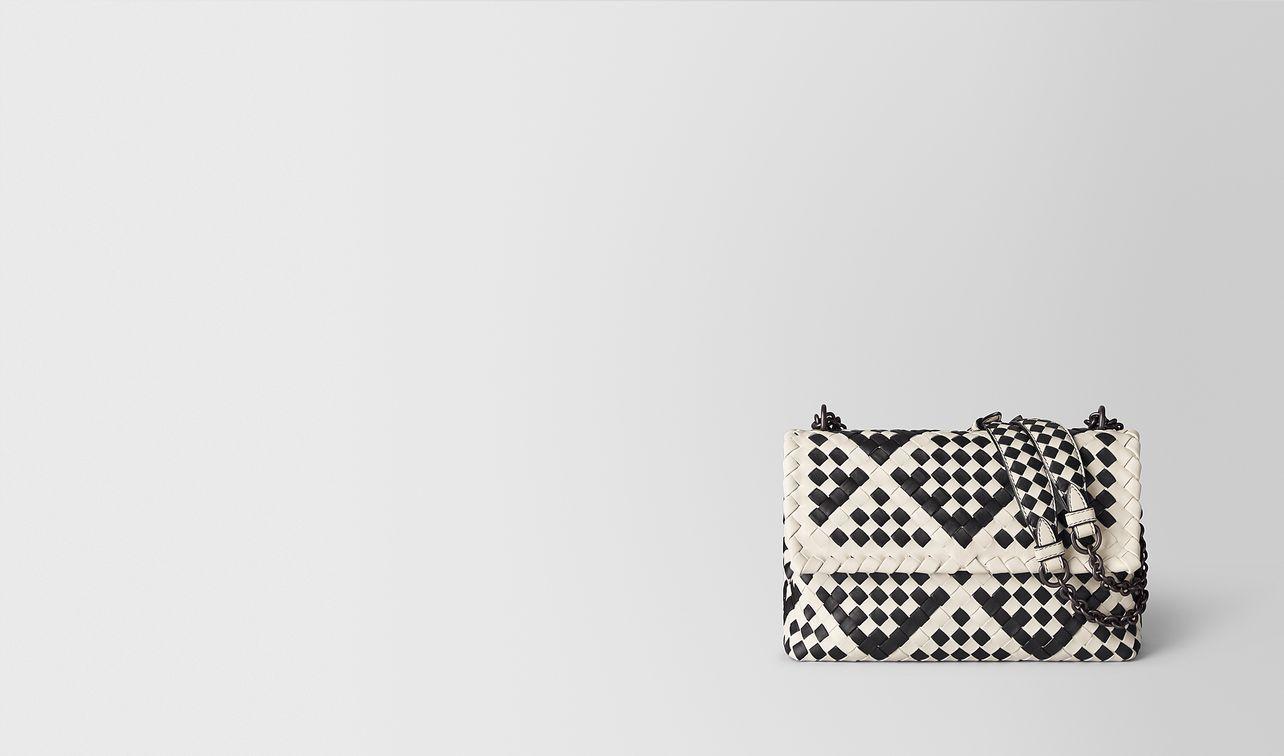 mist/nero intrecciato checker olimpia bag landing