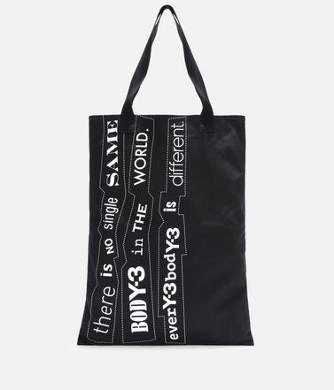 Y-3 Slogan Tote Bag