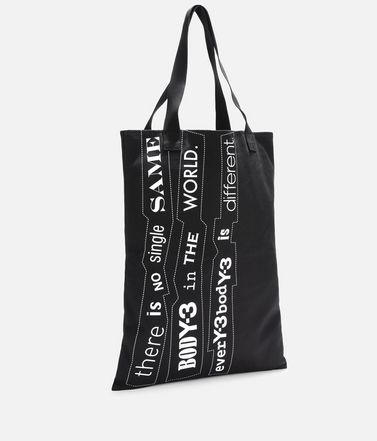 Y-3 Medium fabric bag E Y-3 Slogan Tote Bag r
